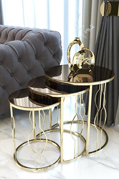 Gold Zigon Sehpa, Bronz Aynalı
