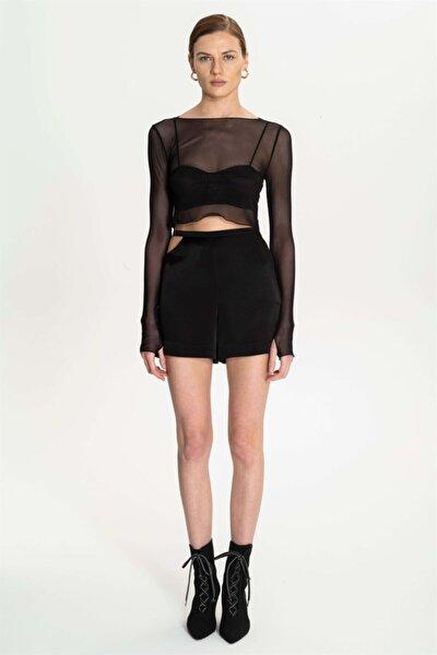 Kadın Siyah Uzun Kollu Bluz
