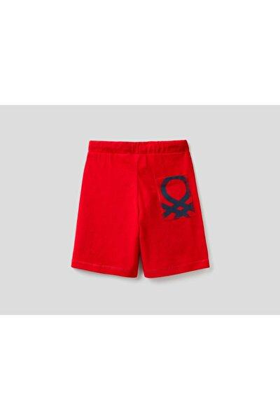 Erkek Çocuk Kırmızı Logolu Şort