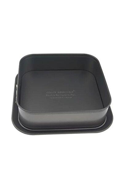 Siyah Kare Kelepçeli Kek ve Ekmek Kalıbı 24x24 cm