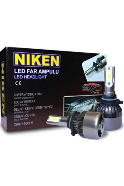 Xenon Far Zenon Far Led Ampül H4 Şimşek Etkili Fan Soğutmalı