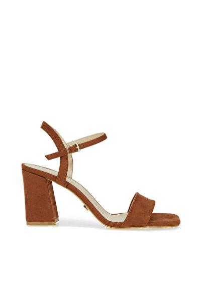 Kadın Taba Bantlı Topuklu Ayakkabı