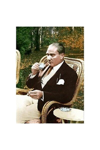 Sayılarla Boyama 40x50 Cm Çerçeveli Tuval: Atatürk Kahve Keyfi
