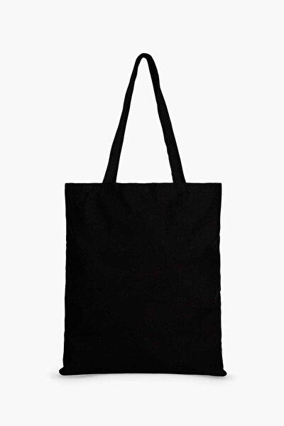 Baskısız Bez Çanta 35x40 Kulplu Siyah