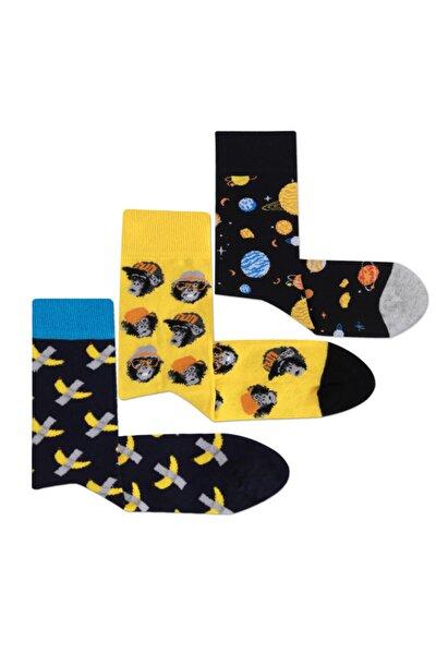 Erkek 3'lü Renkli Çorap