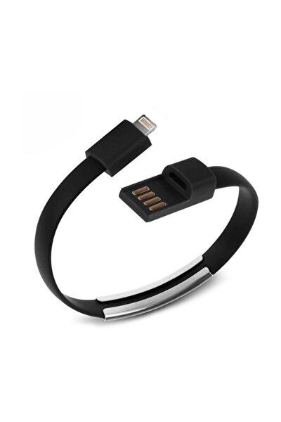 X Iphone 5-6 Siyah Bileklik Şarj&data Kablo
