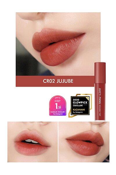 Pürüzsüz Görünüm Sunan Kalıcı Köpük Tint  Ruj APIEU Juicy Pang Mousse Tint (CR02)