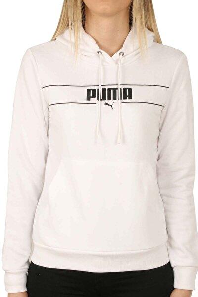 Kadın Beyaz Blank Base Kapüşonlu Sweatshirt 586400 02