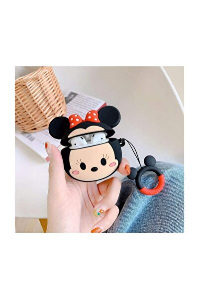 Airpods 3d Uyumlu Minnie Mouse Koruyucu Kılıf - Airpods 1 ve 2