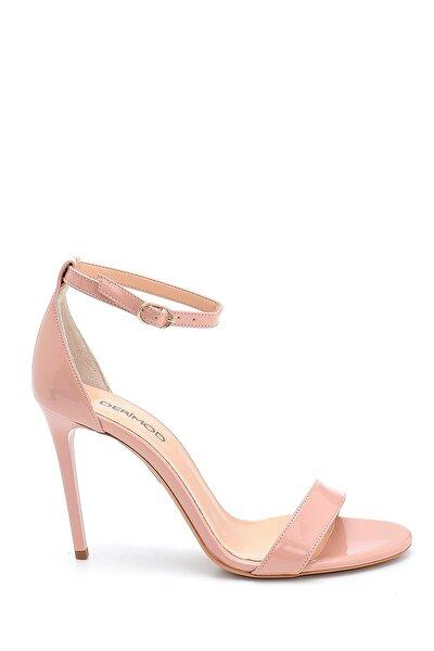 Kadın Pembe Rugan Yüksek Topuklu Ayakkabı