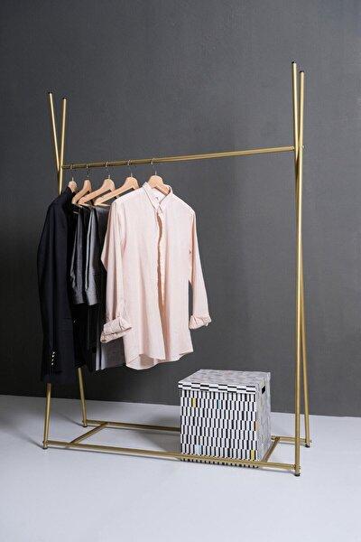 Ayaklı Konfeksiyon Askılığı Gold Özel Tasarım Askılık