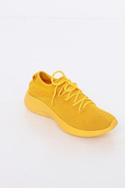 Kadın Sarı Comfort Çorap Ayakkabı