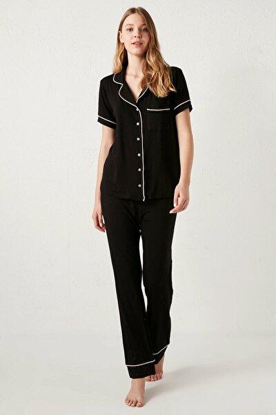 Kadın Siyah  Pijama Takımı