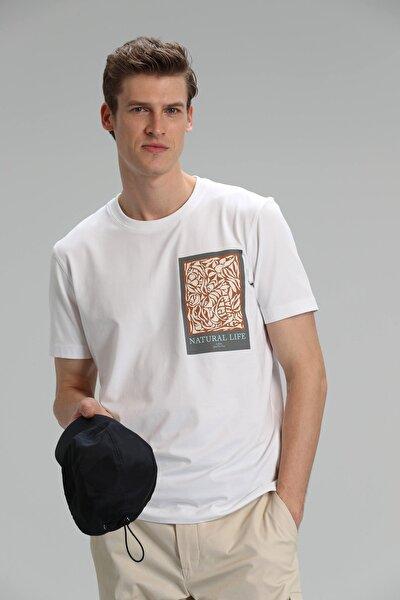 Mark Modern Grafik T- Shirt Beyaz