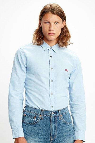 Erkek Mavi Spor Gömlek 86625-0005