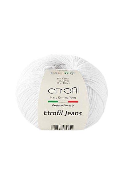 Jeans Amigurumi Ipi Punch Ipi 50 Gr. 002 Beyaz