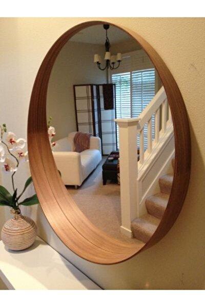 Ahşap Desen Ayna 60 Cm