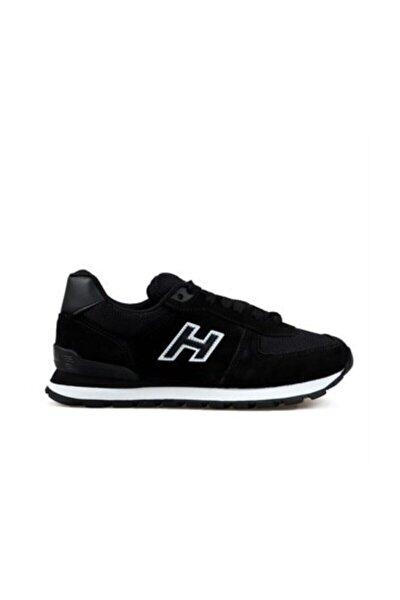 19250 Siyah Erkek Deri Günlük Spor Ayakkabı