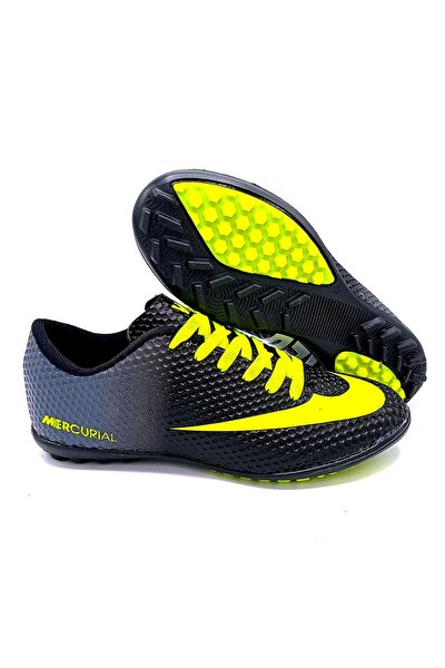 Erkek Siyah Halısaha Futbol Ayakkabısı