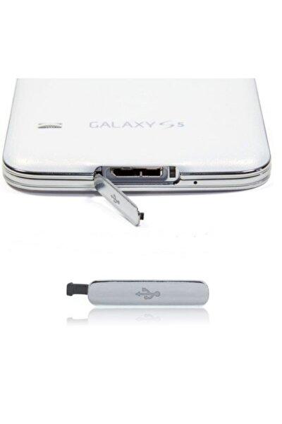Samsung Galaxy S5, I9600, G900 Şarj Usb Tıpası Kapağı - Gri