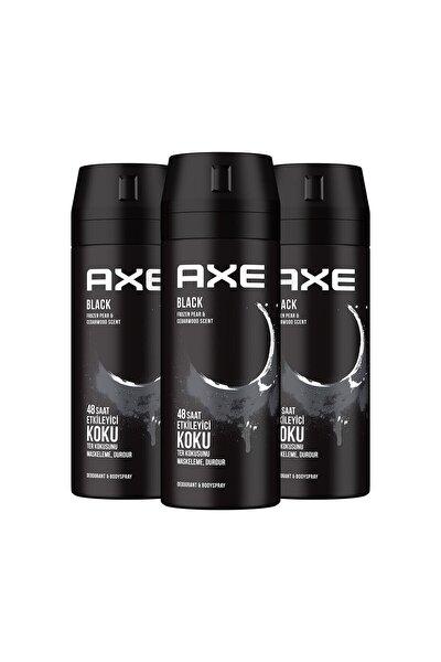 Erkek Deodorant Sprey Black 150 Ml X3