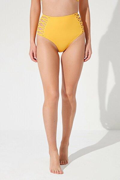 Kadın Sarı Basic High Fashion Bikini Altı