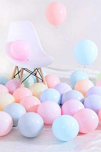 Makaron Pastel Karışık Renk 50'li Balon