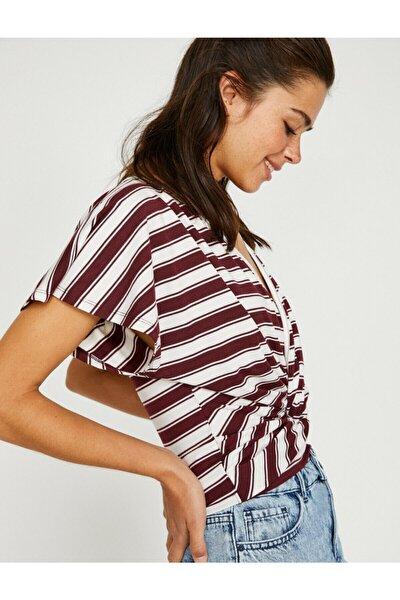 Kadın Bordo T-Shirt