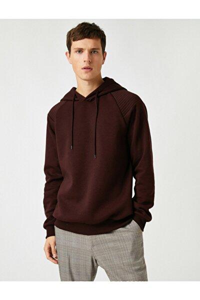 Kapüsonlu Basic Sweatshirt