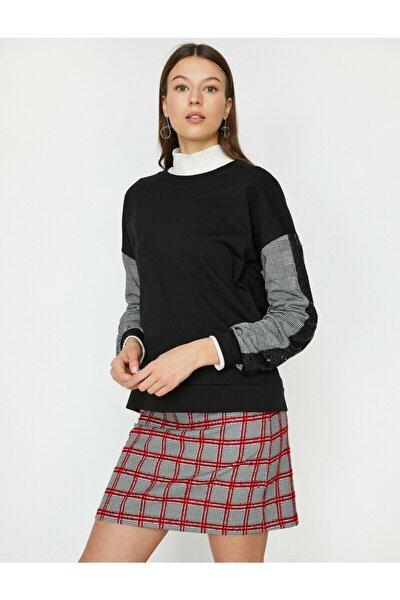 Kadın Siyah Sweatshirt 9YAK13161GK