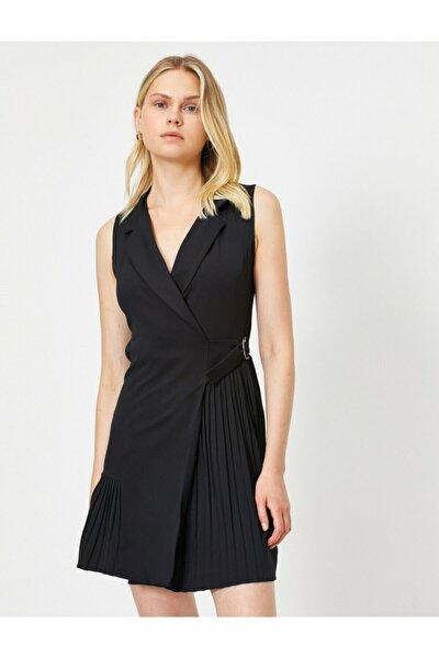 Kadın Siyah Kolsuz Elbise 0KAK83259EW