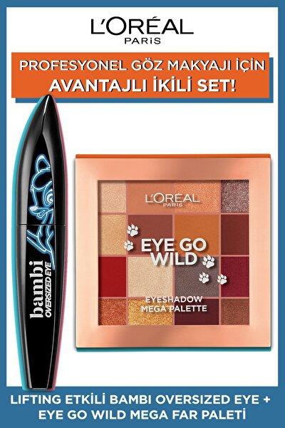 Lifting Etkili Bambi Oversized Eye Siyah Maskara + Eye Go Wild Mega Far Paleti