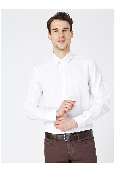 Erkek Beyaz Düz Gömlek