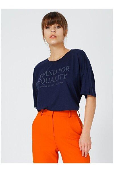 Kadın Lacivert Tişört