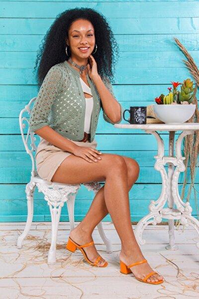 Kadın  Mint Yeşili Ajurlu Bolero Hırka HP-240321000001