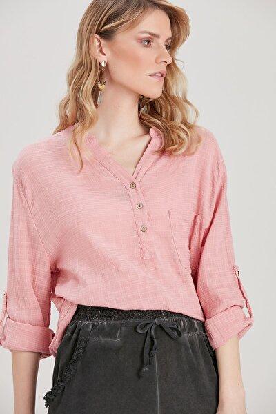 Kadın Pudra Pamuklu Bluz YL-BL99870