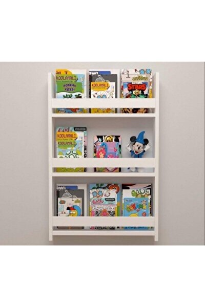 Viphome Montessori Kitaplık Çocuk Odası Eğitici 3 Raflı Vhz-019