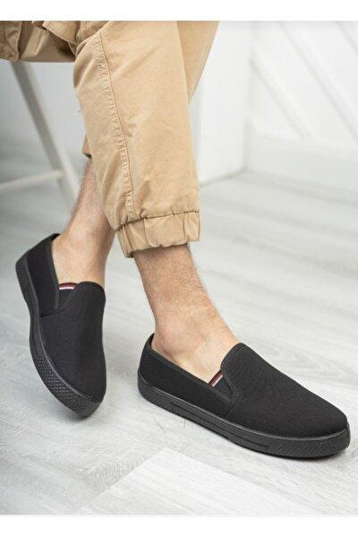 Unisex Siyah Günlük Bez Keten Ayakkabı Sı