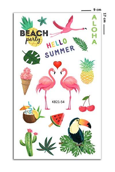 Summertime Flamingo Geçici Dövme
