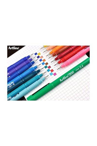 200 Fineliner 0.4 Mm Ince Uçlu Yazı Ve Çizim Kalemi 15 Renk Set