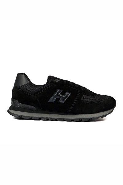 Unısex Siyah Bağcıklı Hakiki Deri Spor Ayakkabı 07 19250_1