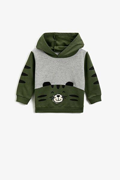 Haki Erkek Bebek Sweatshirt