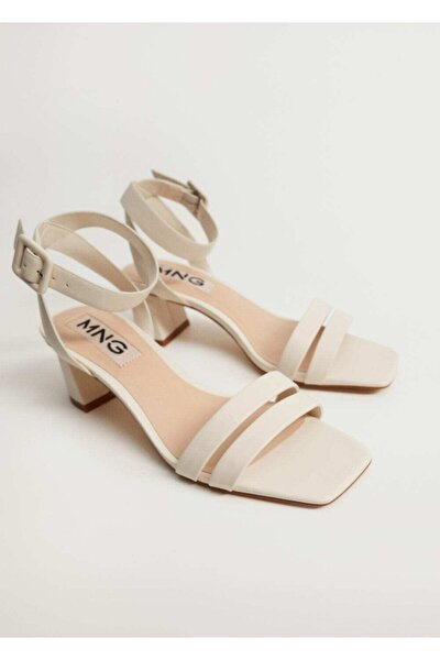 Çizgili Topuklu Sandalet