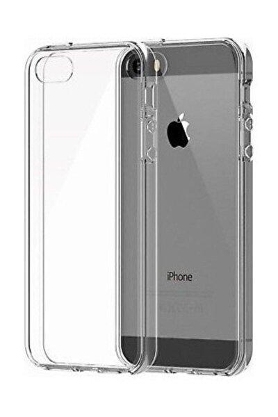Apple Iphone 5s Kılıf Tam Şeffaf Silikon Transparan