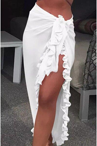 Kadın Beyaz Pareo