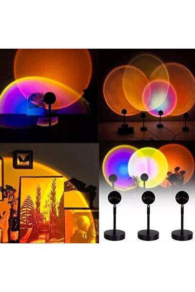 Günbatımı Projektör 180 Derece Dönen Usb Gece Lambası