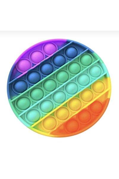 Pop It Push Bubble Fidget Özel Pop Duyusal Oyuncak Zihinsel Stres ( Gökkuşağı / Rainbow )