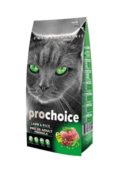 Pro 36 Kuzulu ve Pirinçli Düşük Tahıllı Yetişkin Kedi Maması 15 kg