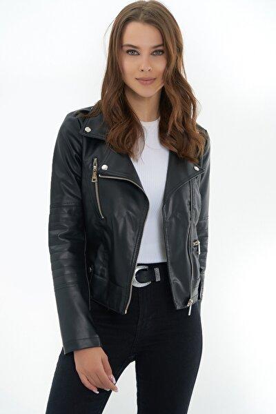 Kadın Kısa Suni Deri Ceket Y19w110-1025