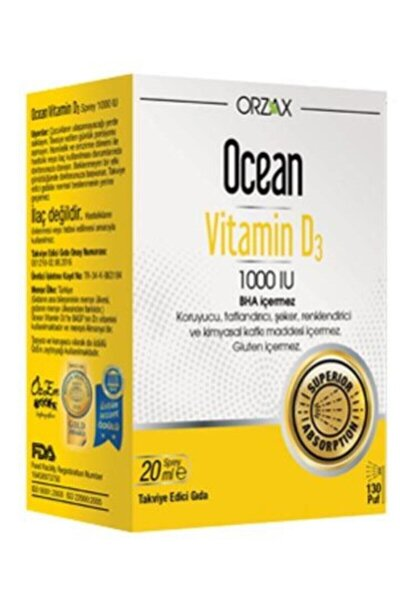 Ocean Vitamin D3 1000 Iu Sprey 20 ml